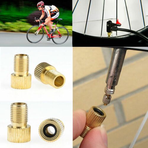4PCS//Set Presta to Schrader Valve Adapter Converter Road Bicycle Cycle Pump Tube