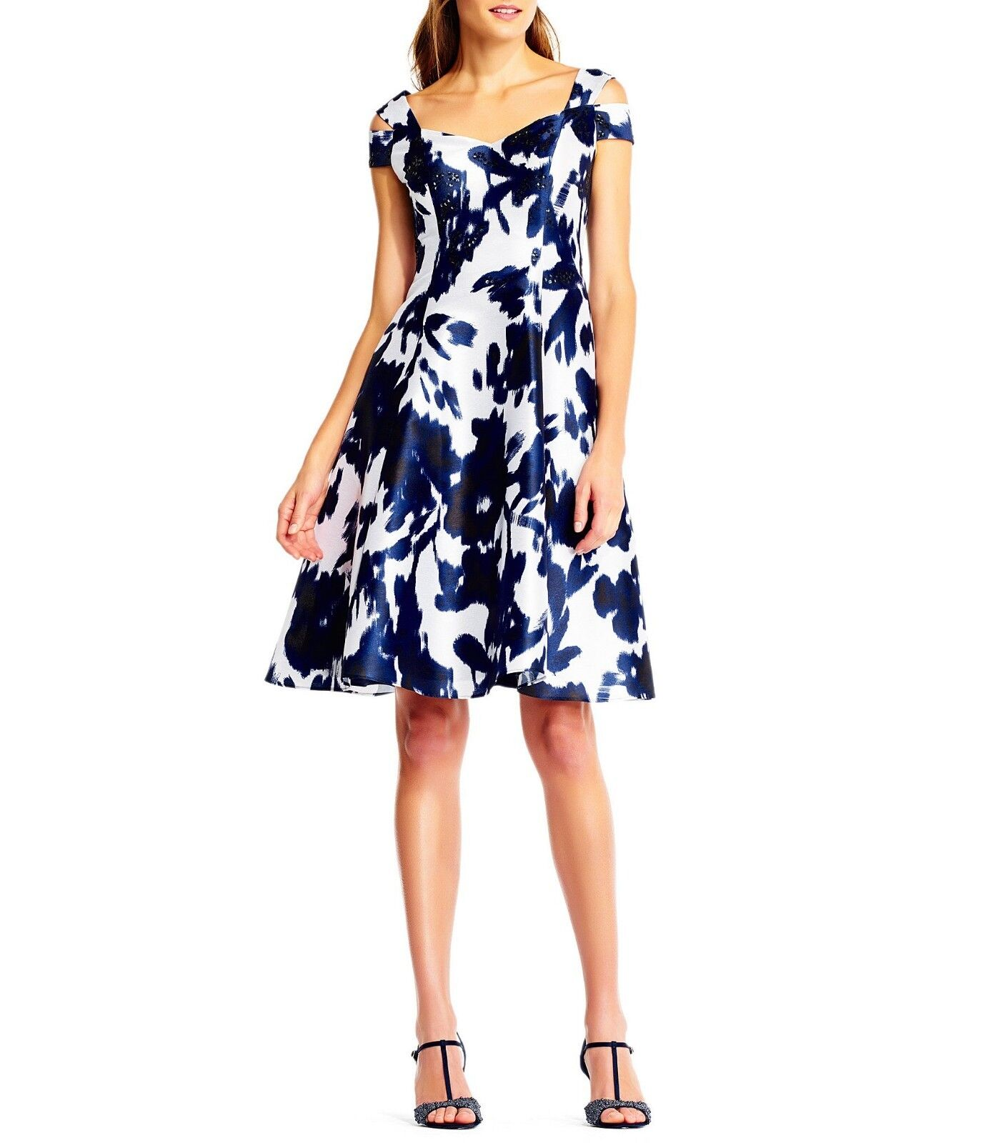 Adrianna Papell Open Shoulder Dress  NWT 4