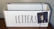 Rae Dunn White Letters Mail Holder Organizer New