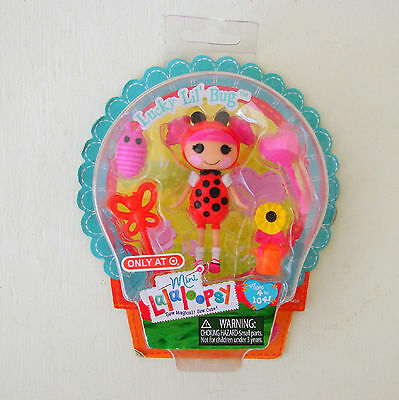 NEW Mini Lalaloopsy LUCKY Lil/' BUG #13 Series 17 Ladybug DOLL Accessories 4 MGA