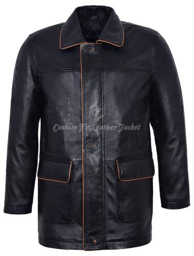 100 Nero di finitura vera marrone giacca 5085 in agnello in Blazer pelle pelle con da uomo chiaro qxU6BwzI