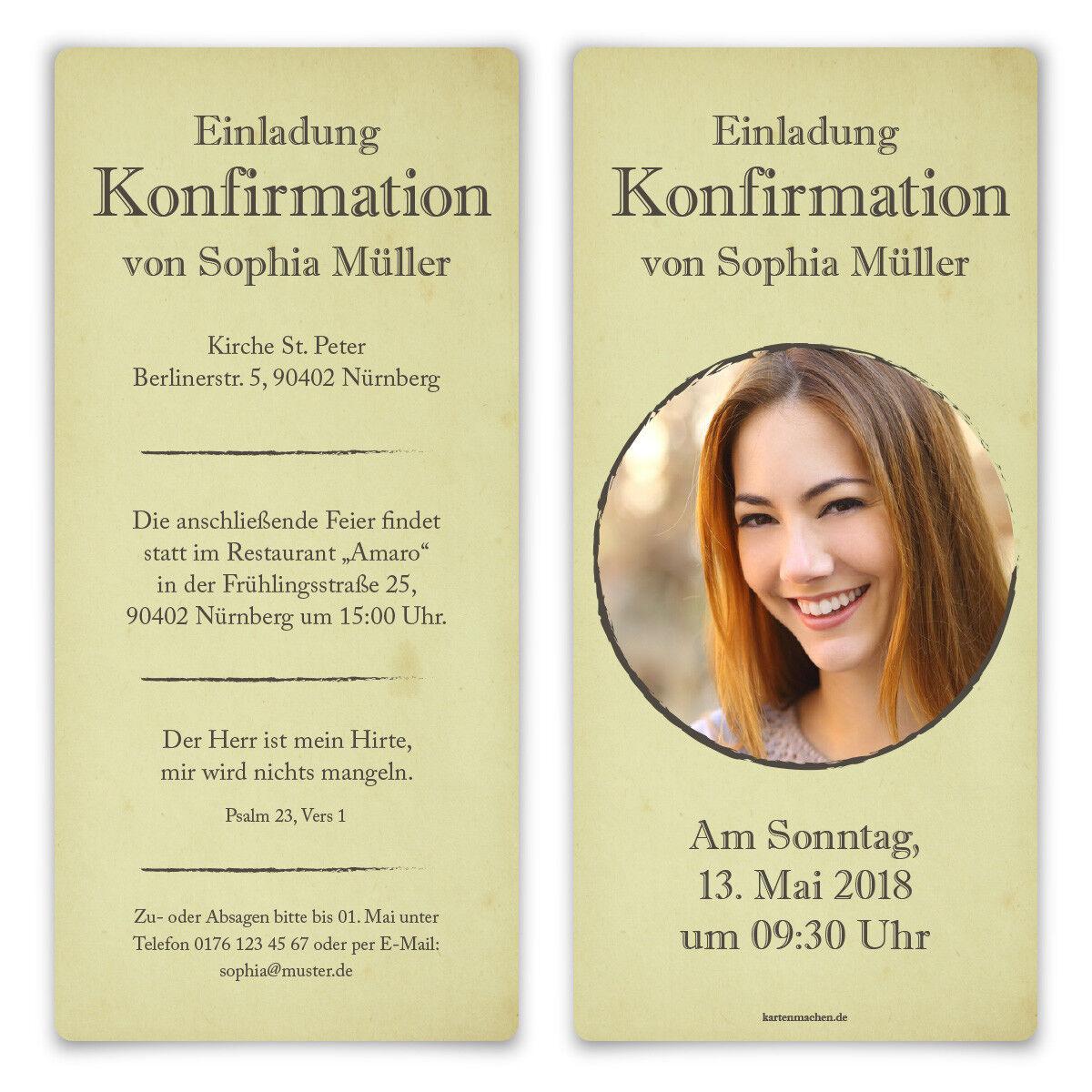 Konfirmation Einladungskarten Konfirmationskarten Einladungen - Seelenliebe