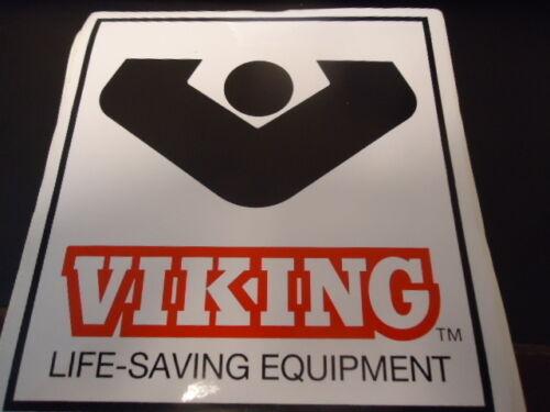 "Viking Life Saving Equipment Sticker Label 6/"" x 6/"""