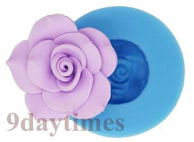 Rose Flower Food Grade Silicon Mold Making For Polymer Clay Chocolate 45mm A308