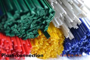PP Plastique baguettes de soudage kit mélange de couleurs,105 pièces,tampons,