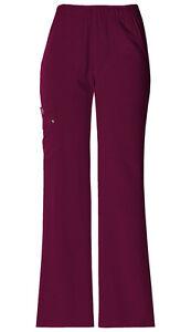 Dickies-Scrubs-Women-039-s-Cargo-Pant-82012-Wine-WINZ-Dickies-Xtreme-Stretch