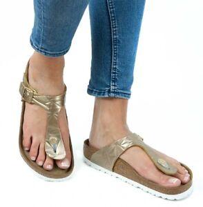 3c010434ef42 Image is loading Birkenstock-Sandals-Gizeh-Spectral-Platinum-women-Soft- Footbed-