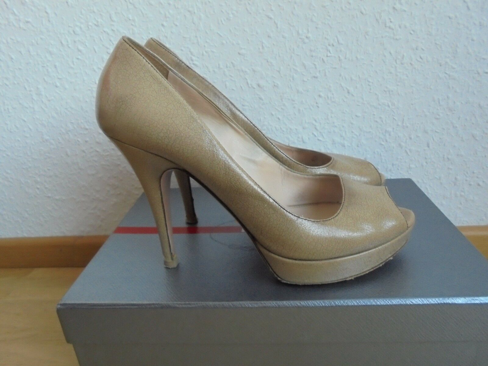 PRADA Nude Leder High OVP Heels NP:  + OVP High Pumps Designer Schuhe 38 38,5 39 d3711a