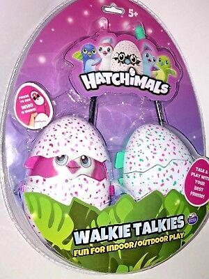 HATCHIMALS Molded Walkie Talkies EGG SHAPED Pink Teal PENGUALA Kids Toy  PENGUIN | eBay