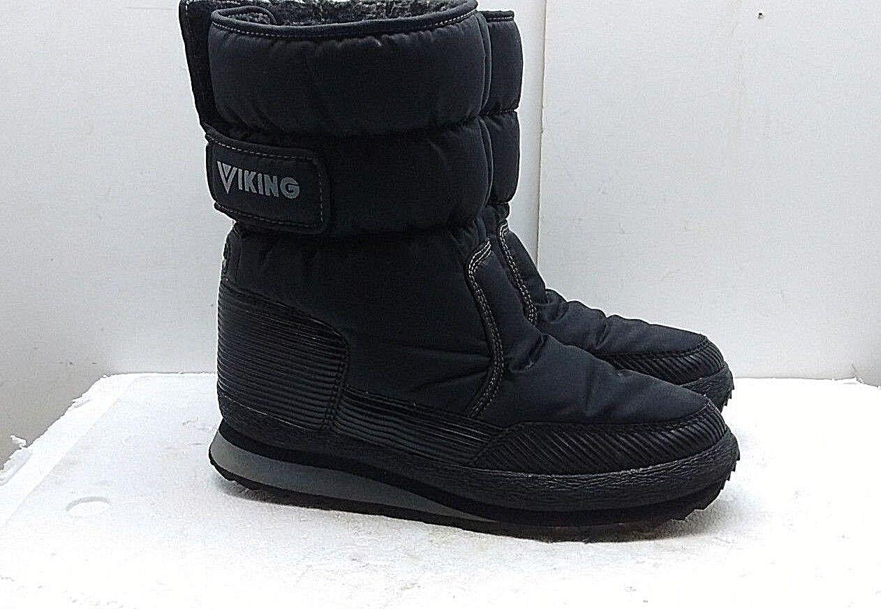 n ° 1 online VIKING donna donna donna nero Synthetic Winter avvio Insulated Mid Calf Pull On scarpe 11 M 43  prezzi eccellenti