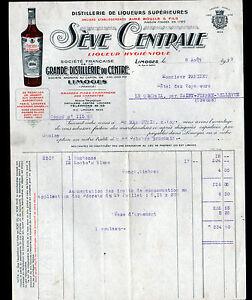 LIMOGES-87-LIQUEURS-SEVE-CENTRALE-034-GRANDE-DISTILLERIE-du-CENTRE-034-en-1939