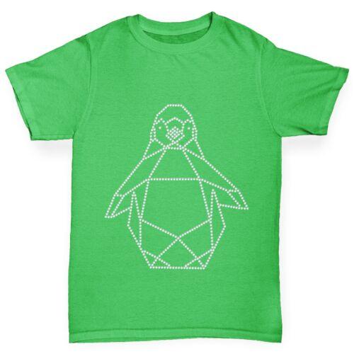 Twisted ENVY boy géométrique pingouin strass t-shirt strass