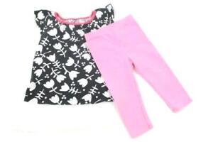 Lot-of-2-Kids-Corner-Baby-Girl-039-s-Clothing-Items-Leggings-Shirt-Pink-Size-12M