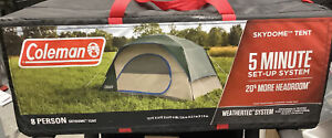 Coleman Skydome 8-Person Camping Tent, Evergreen New