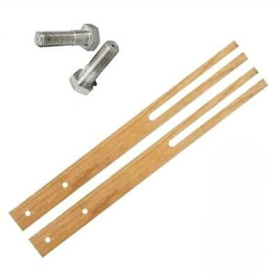 76cm Multi Fit Pair Hardwood Headboard Legs Struts Slotted /& Pre-Drilled Screw