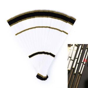 12pcs fluorescent yellow arrow wraps for fletching carbon fiberglass arrow M/&R