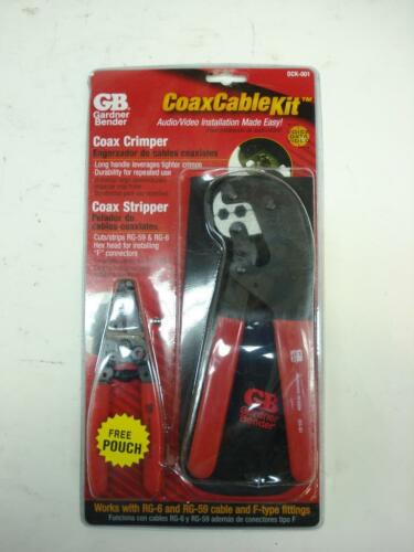 GARDNER BENDER DCK-001 COAX CABLE CRIMPING KIT GS-59 COAXIAL STRIPPER