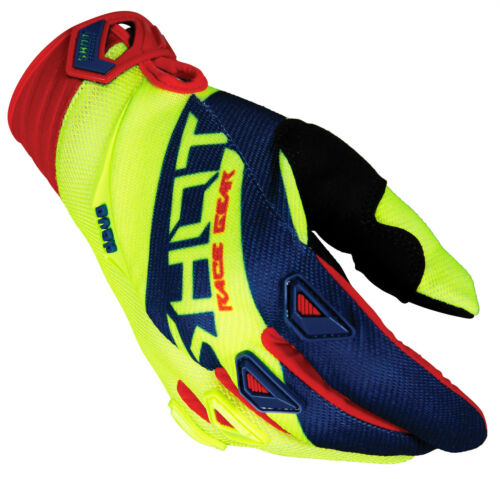 2018 SHOT DEVO ALERT MOTOCROSS GLOVE MX ATV ENDURO MTB BMX NEON YELLOW RED BLUE