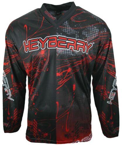 Heyberry Motocross MX Shirt Jersey Trikot schwarz rot Größe XXL