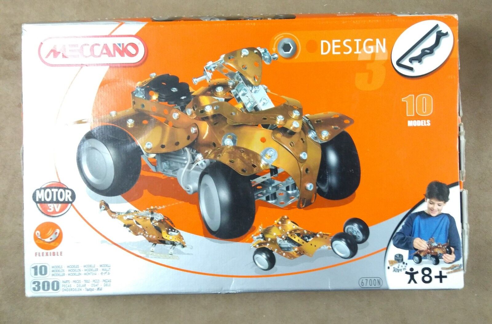 Meccano Design, 10 Models, 6700N, Sealed inside