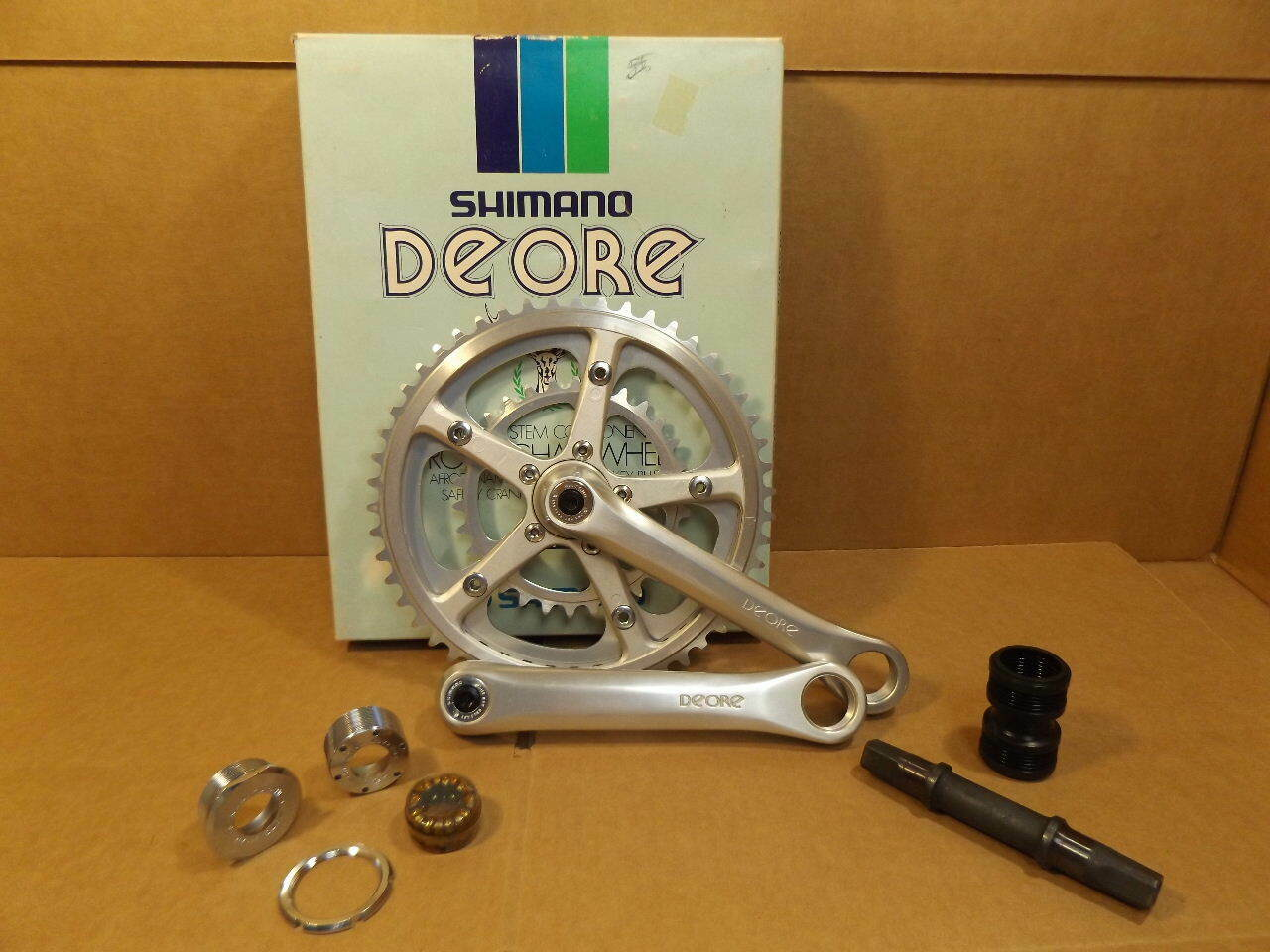 NOS Shimano Deore Crankset (FC-DE31) w 170 mm  Crankarms and 50x45x30 Chainrings  here has the latest