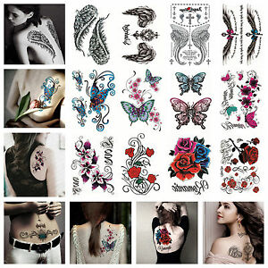 20 style large temporary tattoos for women body art tattoo for Fake body tattoos
