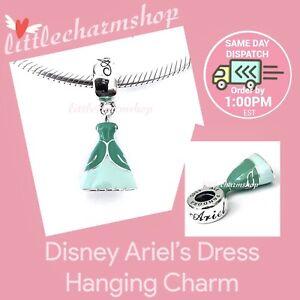 New-Authentic-PANDORA-Disney-Ariel-s-Dress-Hanging-Charm-791577ENMX-RETIRED