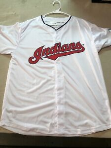Cleveland-Indians-Jose-Ramirez-11-Jersey-Mens-XL-MLB-Match-Up-Vintage