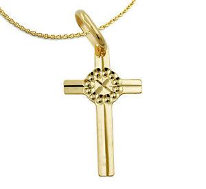 585 ECHT GOLD ***  Kreuz Anhänger Kreuzanhänger winzig 14 mm