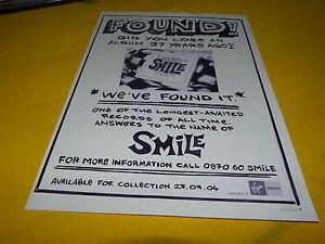 BRIAN-WILSON-Pubblicita-rivista-Annuncio-SMILE