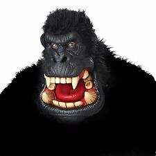 Gorilla Mask Adult Oversized Latex Halloween With Hair Fearsome Scary 60239