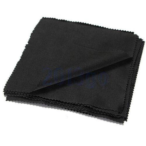 10 X Gafas de lente de cámara de pantalla de teléfono de microfibra paño de limpieza Cuadrado Negro YG