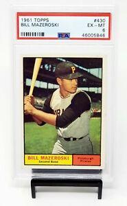 1961-Topps-HOF-Pirates-Star-BILL-MAZEROSKI-Vintage-Baseball-Card-PSA-6-EX-MINT