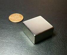 "1 Neodymium Magnet Block N52 Grade Super Strong Rare Earth 1"" x 1"" x 1/2"""
