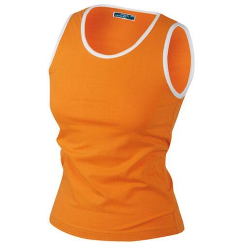 /& Nicholson marques Femmes Beach top shirt NEUF Elastic en orange en s J