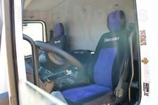 1+1 MERCEDES ATEGO Maßgefertigte Sitzbezüge+Kopfstütze Protektoren Schwarz/Blau