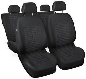 full set Leatherette black Car seat covers fit Skoda Fabia
