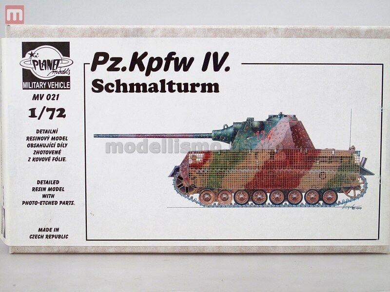 Planet Models Pz.Kpfw. IV Schmalturm 1 72 Resin MV021 modeling static