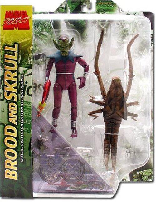 MARVEL COMICS SELECT SELECT SELECT Alien Legends SKRULL & BROOD 6  toy action figure toy set 4a2786