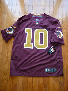 newest 1750e 3286c Details about NEW! Washington Redskins Alternate Game Jersey LRG #10 SEWN  RG3 Removed Nike NWT