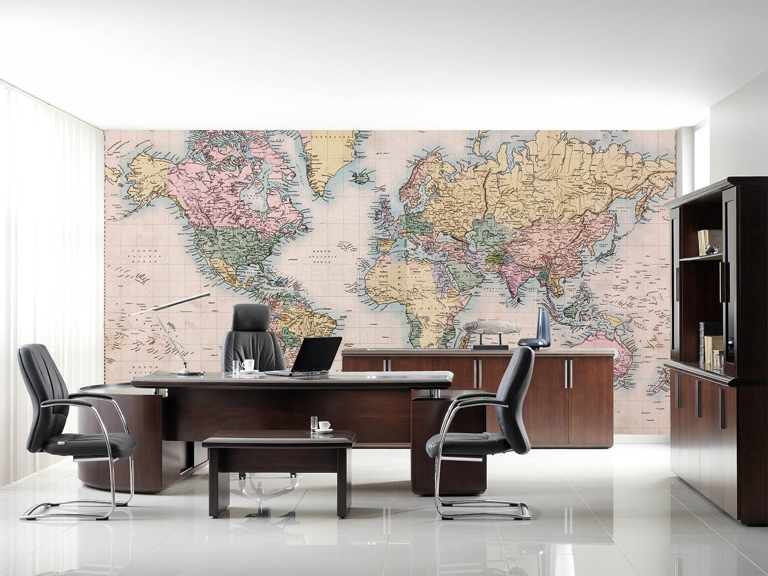 3D Detailed World Map 3 Wall Paper Wall Print Decal Wall Deco Wall Indoor Murals