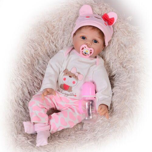 "22/"" Lifelike Newborn Baby Dolls Reborn Girl Doll Silicone Vinyl Kids Gift Toys"