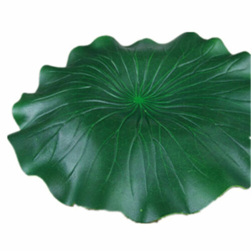 2PCS Artificial  Fake Lotus Leaf Flowers Water Lily Floating Pool Plants Decor