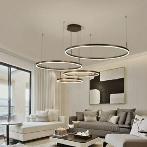 Details About Modern Nordic Pendant Lights Gold Ring Hang Lamp Creative Circle Deco Lighting