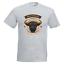 Bos Taurus Mens PRINTED T-SHIRT Charging Through Text Ox Horns Animal