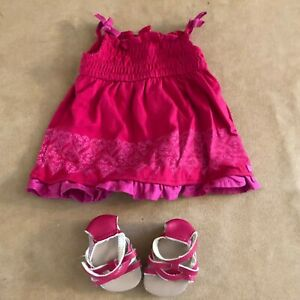 Pretty-Party-outfit-dress-sandals-American-Girl-Doll-clothing-2012-pink-clothing