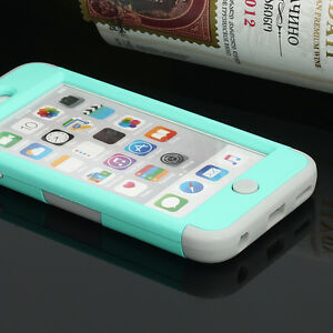 For-iPod-Touch-6-amp-5th-Gen-Hybrid-Rubber-TPU-Silicon-Slim-Hard-amp-Soft-Case-Cover
