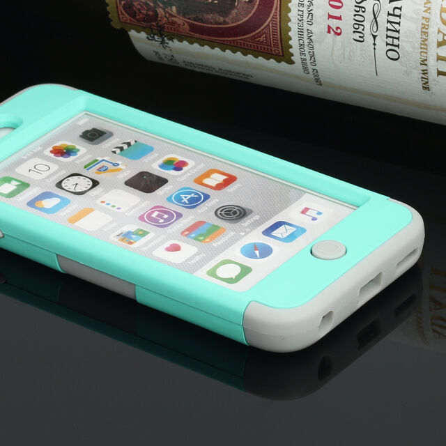 For iPod Touch 5 5th Gen Rubber IMPACT TUFF HYBRID Case Skin Cover Carbon Fiber