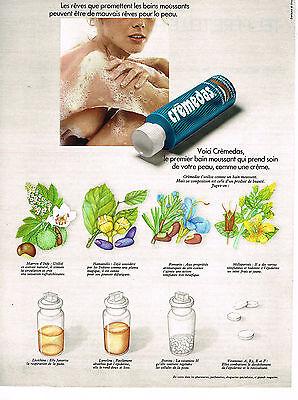 Breweriana, Beer Popular Brand Publicite Advertising 1973 Cremedas Bain Moussant Large Assortment