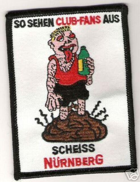 """Anti Nürnberg Aufnäher """"Scheiss Nürnberg"""" Kutte Weste Fan Patch Block + neu +"""